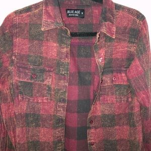 Jackets & Blazers - Red and black checkered flannel